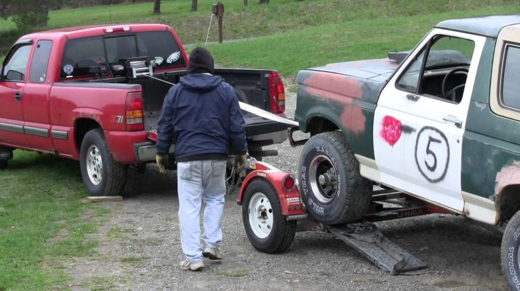 Winch A Vehicle Onto A Car Tow Dolly Discount Rugs Buy