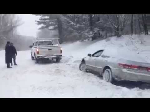 Towing Brisbane Car From Ditch In The Snow Discount Rugs